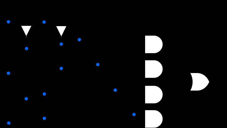 4:1 multiplexer circuit