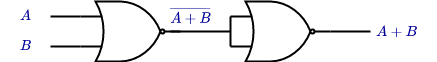 or gate using nand gate only
