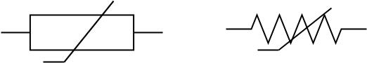 Circuit diagram thermistor symbol